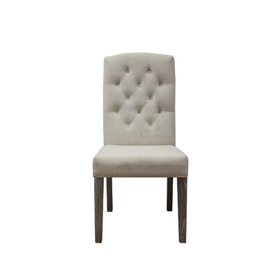 Parsons Chair Upholstery: Bone