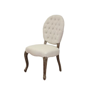 Cannon Side Chair Side Chair Upholstery: Ivory