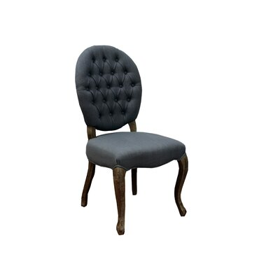 Cannon Side Chair Side Chair Upholstery: Grey