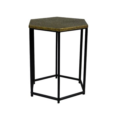 Portia End Table Color: Brass