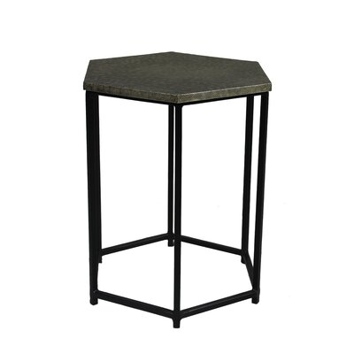 Portia End Table Color: Silver