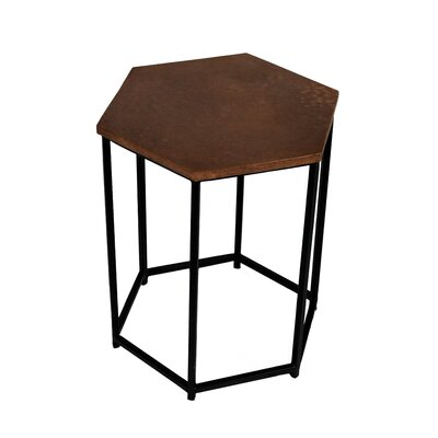 Portia End Table Color: Copper