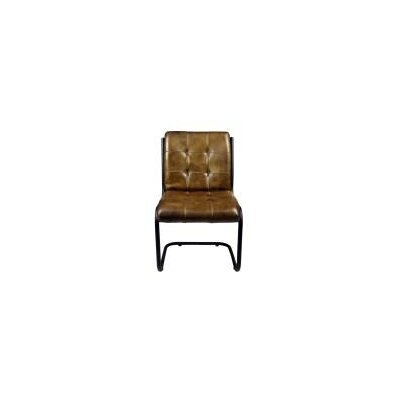 Ziyue Iron Frame Side Chair Upholstery: Chestnut