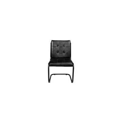 Ziyue Iron Frame Side Chair Upholstery: Ebony