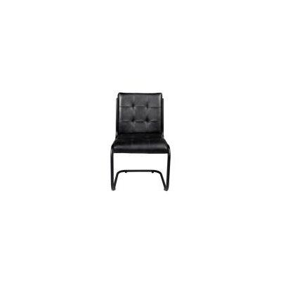 Ziyue Iron Frame Side Chair Upholstery: Ebony
