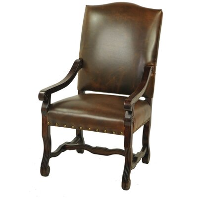 True High Back Armchair Upholstery: Chestnut