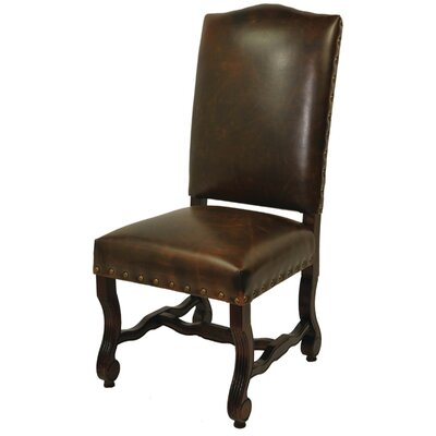 Bonded High Back Side Chair Upholstery: Chestnut