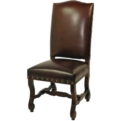 Bonded Leather High Back Side Chair Color: Burgundy