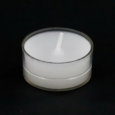 Unscented Tealight Candles with Clear Cup Color: White (Set of 50, 4.5 hour burn time) LITD-TL-CW50