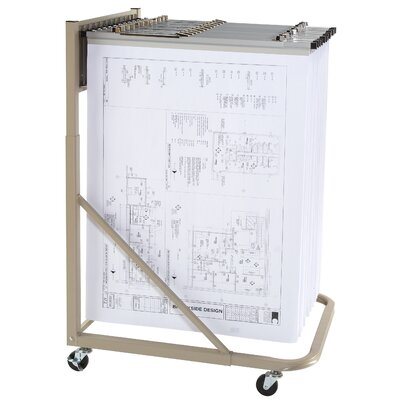 Vertical Mobile Hanging Filing Cart