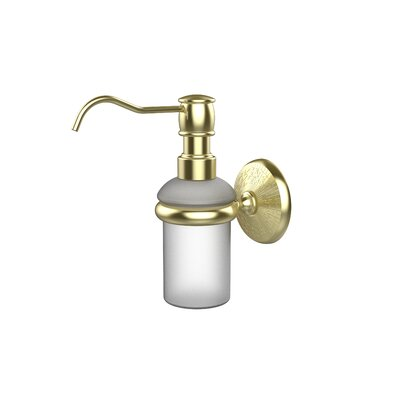 Monte Carlo Wall Mounted Soap Dispenser Finish: Satin Brass