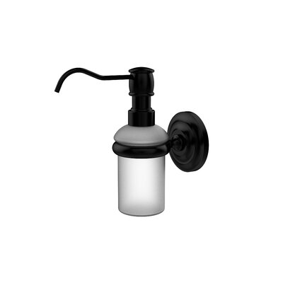Universal Wall Mounted Soap Dispenser Finish: Matte Black