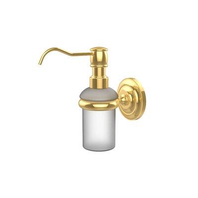 Universal Wall Mounted Soap Dispenser Finish: Polished Brass