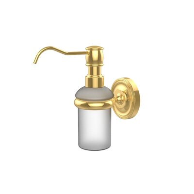 Universal Wall Mounted Soap Dispenser Finish: Polished Brass