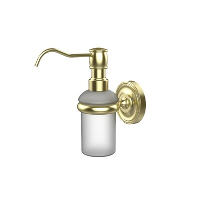 Universal Wall Mounted Soap Dispenser Finish: Satin Brass