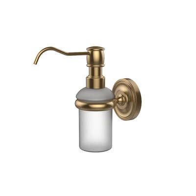 Universal Wall Mounted Soap Dispenser Finish: Brushed Bronze