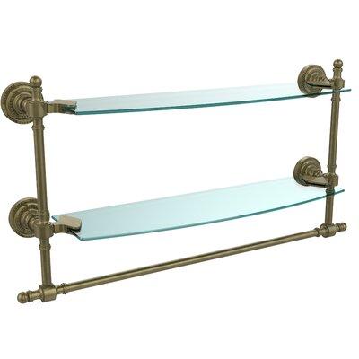 "Retro Dot Duo Wall Shelf Finish: Antique Brass, Size: 22"" RD-34TB/18-ABR"