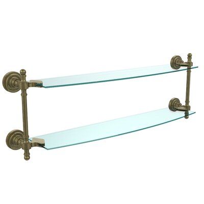 "Retro Dot Wall Shelf Finish: Antique Brass, Size: 22"" RD-34/18-ABR"