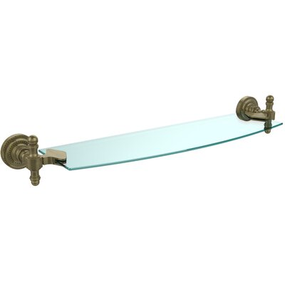 "Retro Dot Wall Shelf Finish: Antique Brass, Size: 22"" RD-33/18-ABR"