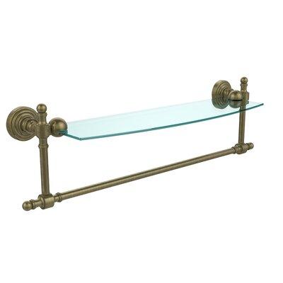 """Retro Wave Bathroom Wall Shelf Finish: Antique Brass, Size: 22"""" RW-33TB/18-ABR"""