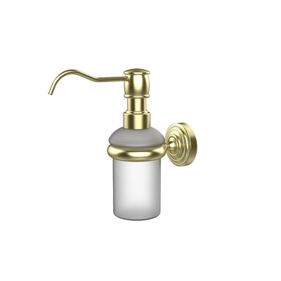 Waverly Place Wall Mounted Soap Dispenser Finish: Satin Brass