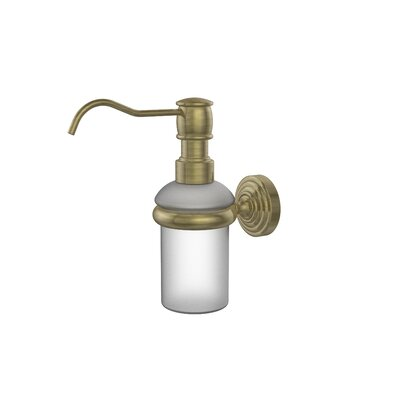 Waverly Place Wall Mounted Soap Dispenser Finish: Antique Brass