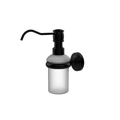 Waverly Place Wall Mounted Soap Dispenser Finish: Matte Black