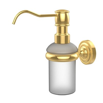 Dottingham Wall Mounted Soap Dispenser Finish: Polished Brass