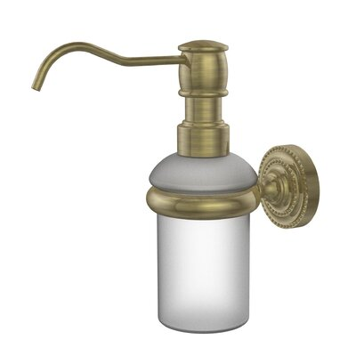 Dottingham Wall Mounted Soap Dispenser Finish: Antique Brass