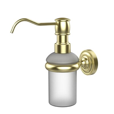 Dottingham Wall Mounted Soap Dispenser Finish: Satin Brass