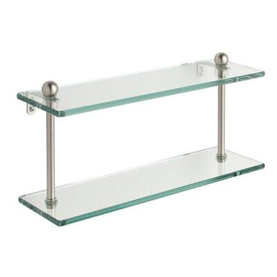 "Allied Brass Universal Double Bathroom Shelf - Size: 16"", Finish: Antique Pewter"