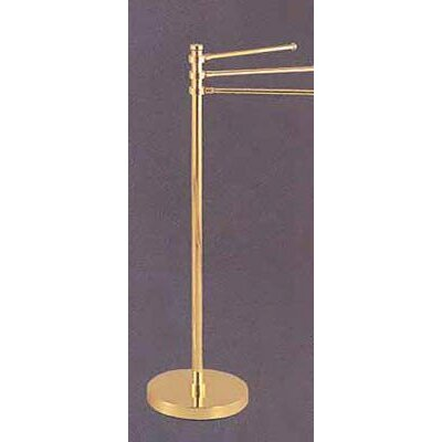 """Allied Brass Universal Free Standing Towel Stand with 3-12"""" Arms - Finish: Antique Brass at Sears.com"""