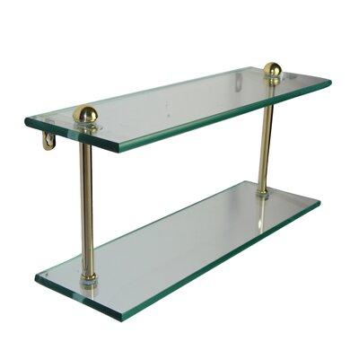 "Allied Brass Universal Double Bathroom Shelf - Finish: Antique Brass, Size: 16"""