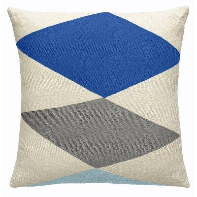Ace New Zealand Wool Throw Pillow Color: Cream/Marine