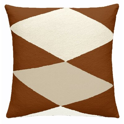 Ace Outlined New Zealand Wool Throw Pillow Color: Sierra/Cream/Oyster
