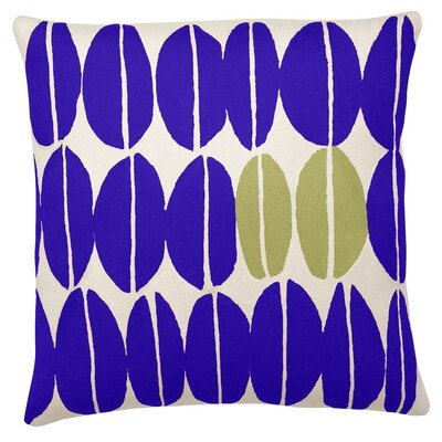 Seeds New Zealand Wool Throw Pillow Color: Periwinkle