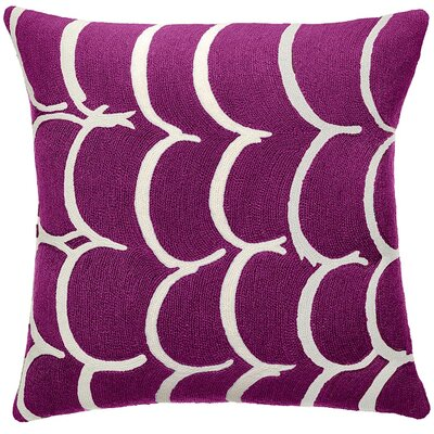 Bangle New Zealand Wool Throw Pillow Color: Claret/cream