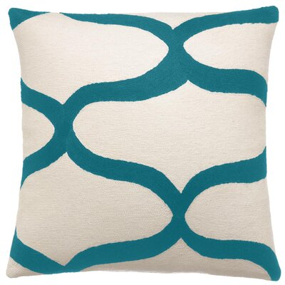 Waves New Zealand Wool Throw Pillow Color: Peacock