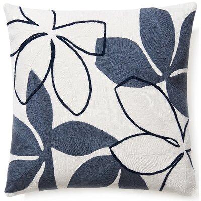 Flora New Zealand Wool Throw Pillow Color: Cream/Slate/Navy