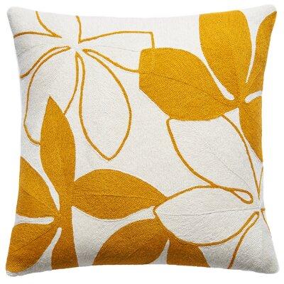 Flora New Zealand Wool Throw Pillow Color: Cream/Marigold