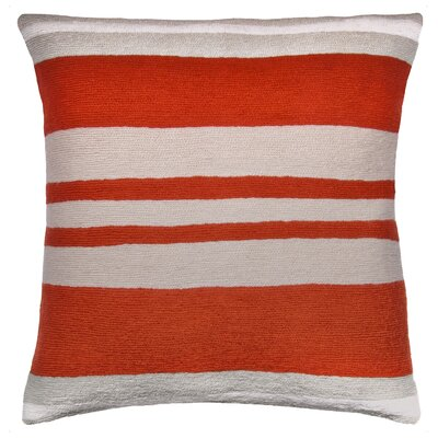 Cabana New Zealand Wool Throw Pillow Color: Coral/Oyster