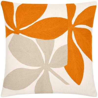 Fauna New Zealand Wool Throw Pillow Color: Oyster/Melon