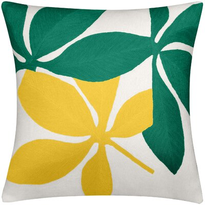 Fauna New Zealand Wool Throw Pillow Color: Kelly Green/Yellow