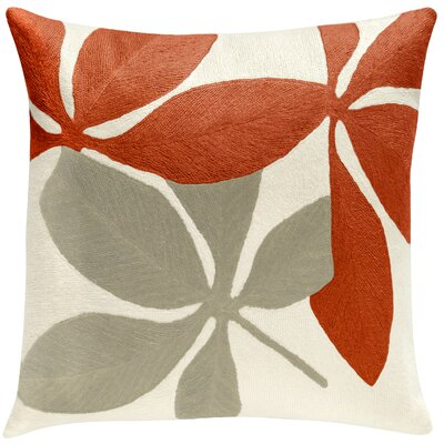Fauna New Zealand Wool Throw Pillow Color: Coral/Oyster