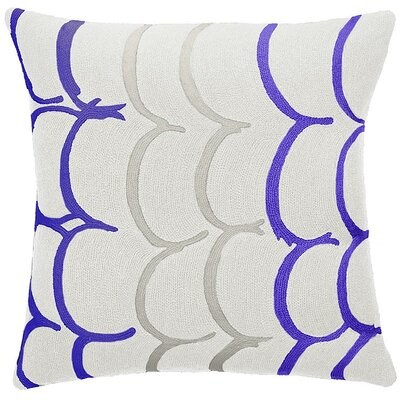 Bangle New Zealand Wool Throw Pillow Color: Cream/periwinkle/oyster
