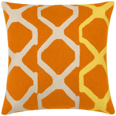 Arbor New Zealand Wool Throw Pillow Color: Melon/Oyster/Yellow