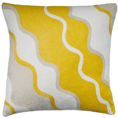 Parade Outlined New Zealand Wool Throw Pillow Color: Cream/Yellow/Oyster