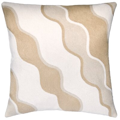 Parade Outlined New Zealand Wool Throw Pillow Color: Blonde/Oyster/Cream