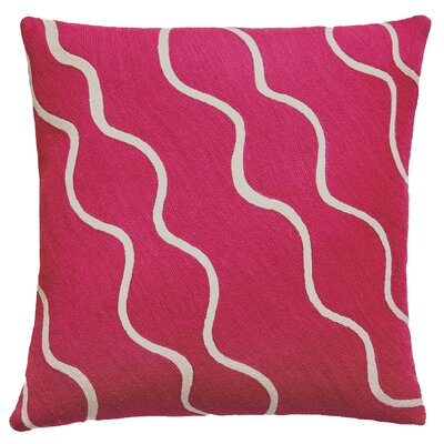 Parade Outlined New Zealand Wool Throw Pillow Color: Cream/Cerise