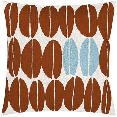 Seeds New Zealand Wool Throw Pillow Color: Cream/Sierra/Powder Blue